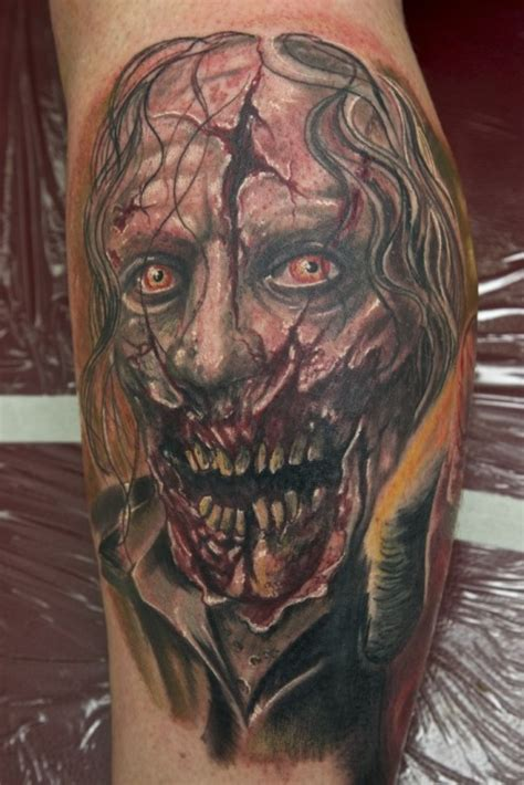 10 zombie tattoos that will give you nightmares tattoo com