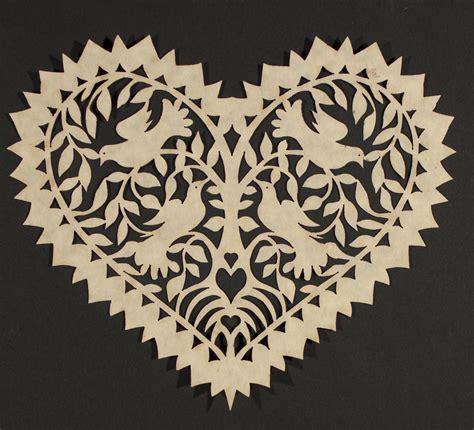 papercut scherenschnitte heart paper art bing image