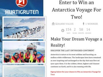 Antarctica Sweepstakes - the antarctica voyage for two sweepstakes