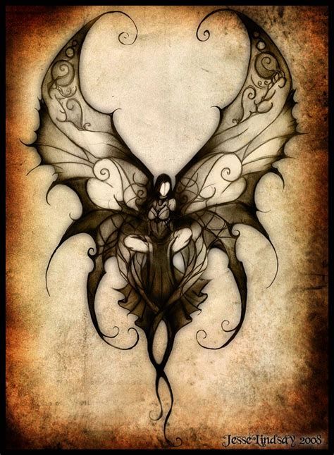 gothic angel tattoo designs in my soul away with the fairies