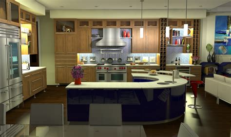 L Shaped Kitchen With Island Floor Plans lacquer wood l shaped kitchen layout with island and red