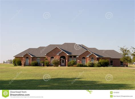 large ranch style homes modern large ranch style brick house stock photos image