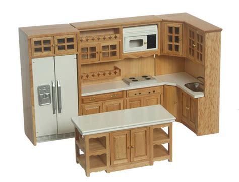 miniature dollhouse kitchen furniture 2018 oak kitchen set 6pc s dollhouse miniatures