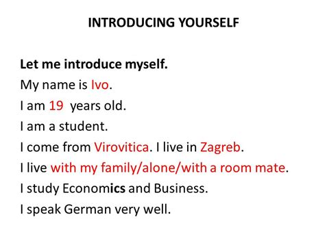 Unit Ppt Video Online Download Introduce Yourself Ppt