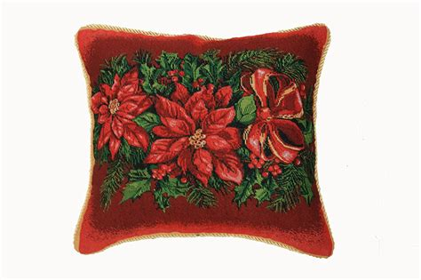 poinsettia christmas throw pillows christmas wikii