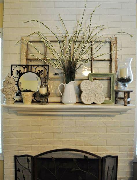 Brick Fireplace Mantel Decor by 25 Best Ideas About Mantel Decor Everyday On