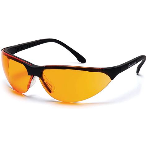 orange glasses pyramex rendezvous safety glasses black frame orange