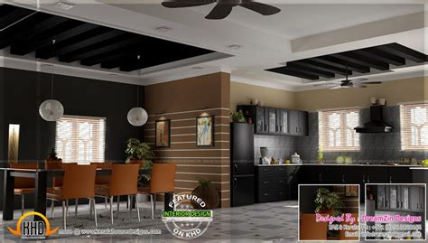 dining kitchen living room interior designs kerala home home design kitchen interior dining area design indian