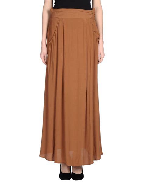 stefanel skirt in brown lyst