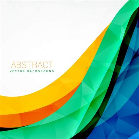 colorful designer abstract colorful wave vector design background vector