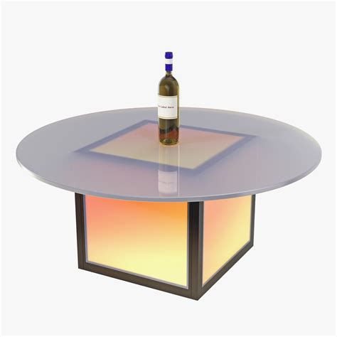 Lighted Coffee Table 3ds Max Led Illuminated Coffee Table