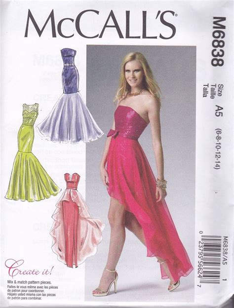 pattern making gown mccall s sewing pattern misses prom evening dress sizes 6