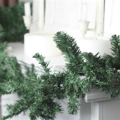 artificial canadian pine garland christmas and winter