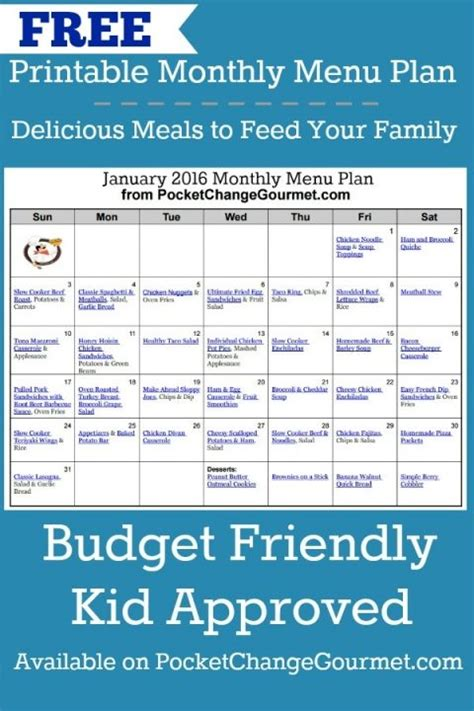 kid friendly dinner menu 17 best ideas about monthly menu on family