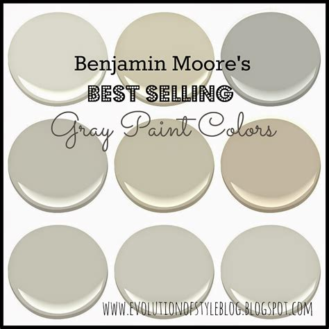 benjamin moores  selling grays evolution  style
