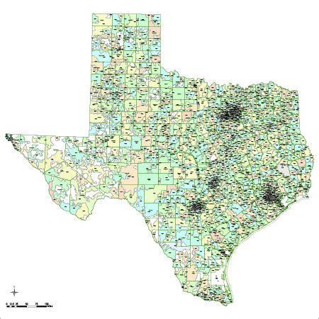 product map of texas texas digital vector maps editable illustrator pdf vector map of texas