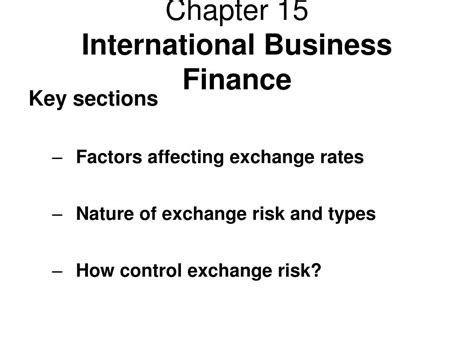 How To Finance An International Mba by Ppt Chapter 15 International Business Finance Powerpoint