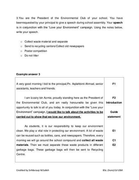 sle of formal letter for spm exle of formal letter essay spm cover letter templates