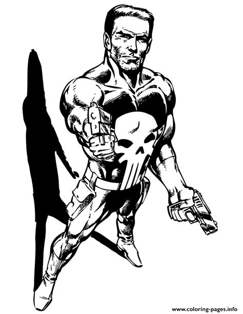 marvel comics punisher coloring page coloring pages printable