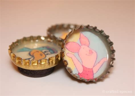 diy bottle cap magnets bottle cap magnet by crafted spaces crafts diy magnets