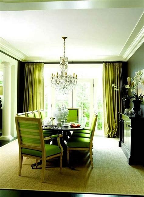 green dining room fresh green paint in modern dining room with chandelier