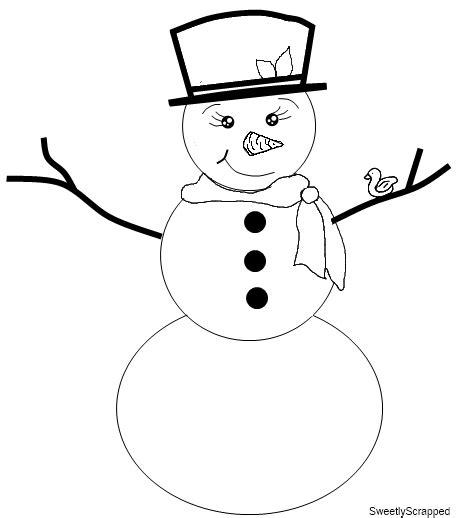 Snowman Stencil Printable