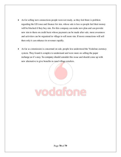 vodafone up letter vodafone rural penetration project