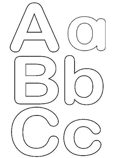 moldes de letras mayusculas y minusculas para imprimir y recortar molde de letras para imprimir e recortar imagui
