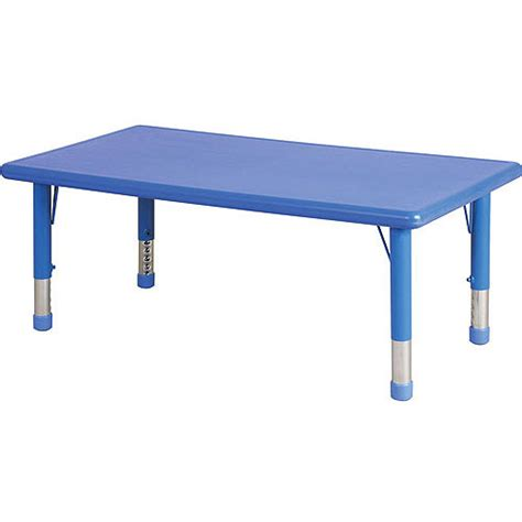 Activity Table Walmart by Rectangular Resin Adjustable Activity Table Blue