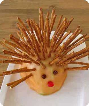 porcupine snack animal snacks zoo crafts green crafts