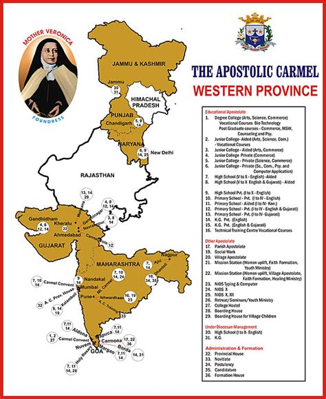 biography of mother veronica provinces of the apostolic carmel congregation