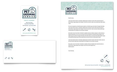 Shelter Insurance Letterhead Pet Grooming Service Business Card Letterhead Template Word Publisher