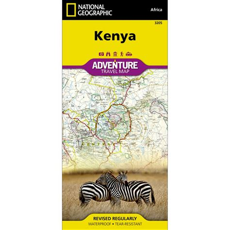 Kenya Adventure Map National Geographic Store