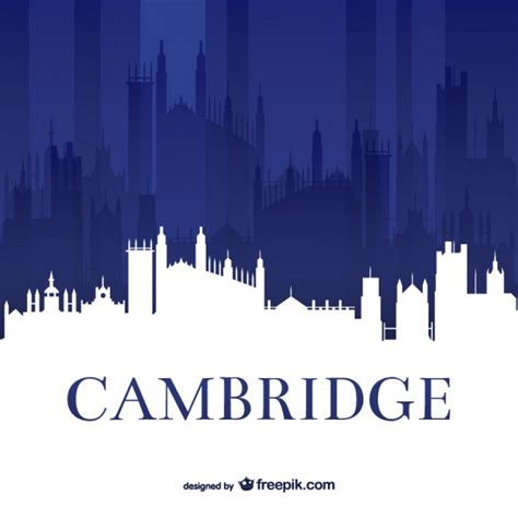 cambridge university skyline vector