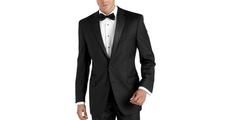 tuxedo house 100 wool black slim fit tuxedo men s tuxedos calvin klein men s wearhouse
