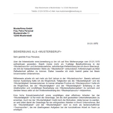 Bewerbungsschreiben Schweiz Muster Bewerbungsschreiben 5 Bewerbung Co