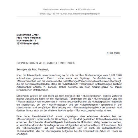 Anschreiben Muster Schweiz Bewerbungsschreiben 5 Bewerbung Co