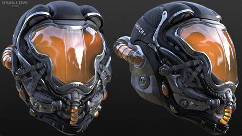 helmet design zbrush helmet concepts ryan love armor piece pinterest