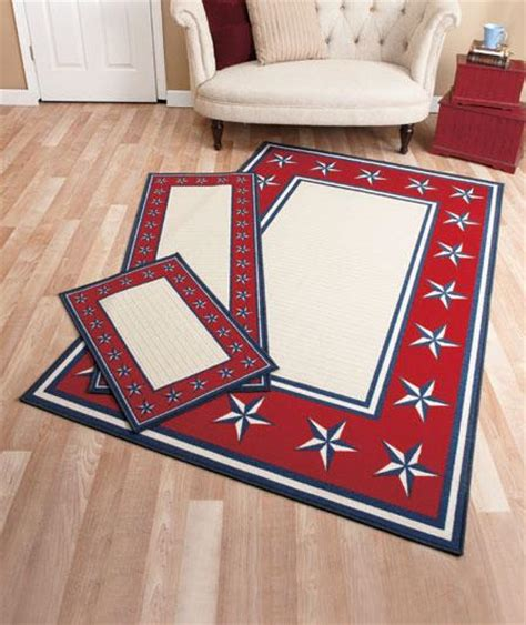 Americana Area Rug New White Blue Americana Themed Area Rug 53 Quot X 83 Quot Ebay