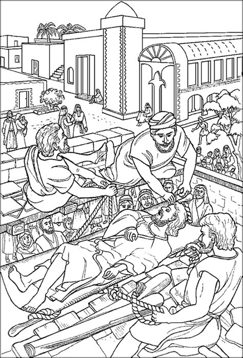 Jesus Heals Paralytic Coloring Page free coloring pages of paralytic