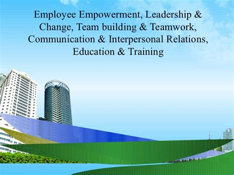 Mba In Communication And Relations by Employee Empowerment Ppt Mba 2009
