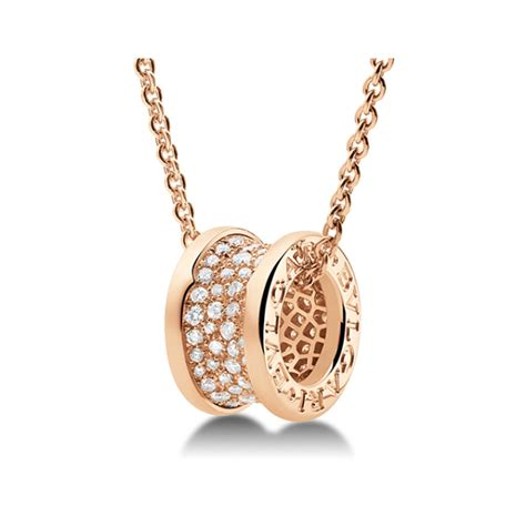 cadenas bvlgari para mujer bulgari b zero1 18k rose gold pendant chain with pave