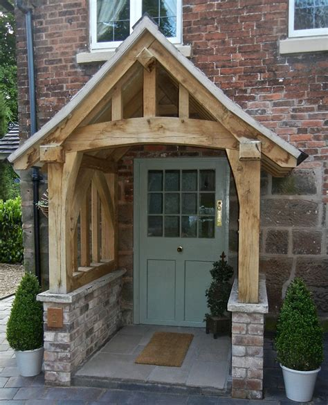 Porch Canopy Oak Porch Doorway Wooden Porch Canopy Entrance Self