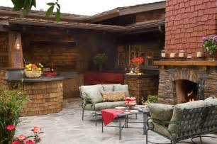 kitchen patio ideas craftsman outdoor kitchen and fireplace traditional