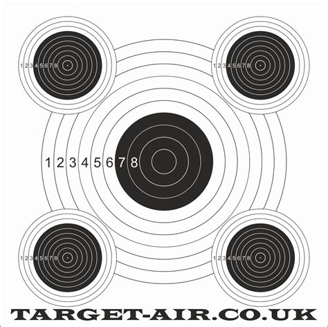 printable targets airguns 5 bullseye airgun rimfire shooting targets
