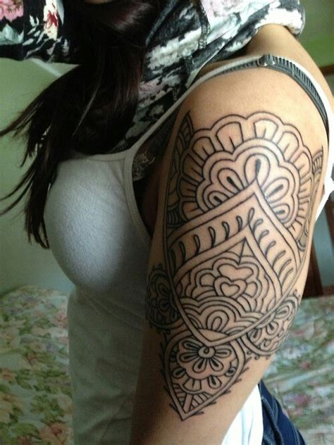 indian themed tattoo india inspired shoulder tattoos and hair