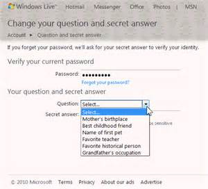 Secret Garden Answers Hotmail Security To Protect And Recover Your Account