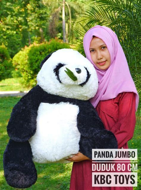 Boneka Panda Jumbo 80cm jual boneka panda jumbo duduk jual boneka grosir