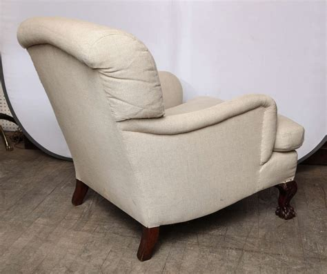 howard armchair howard style upholsetered library armchair at 1stdibs