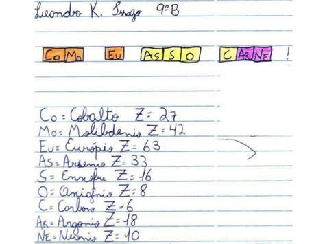 decorar os elementos da tabela periodica frases os elementos da tabelha peri 243 dica